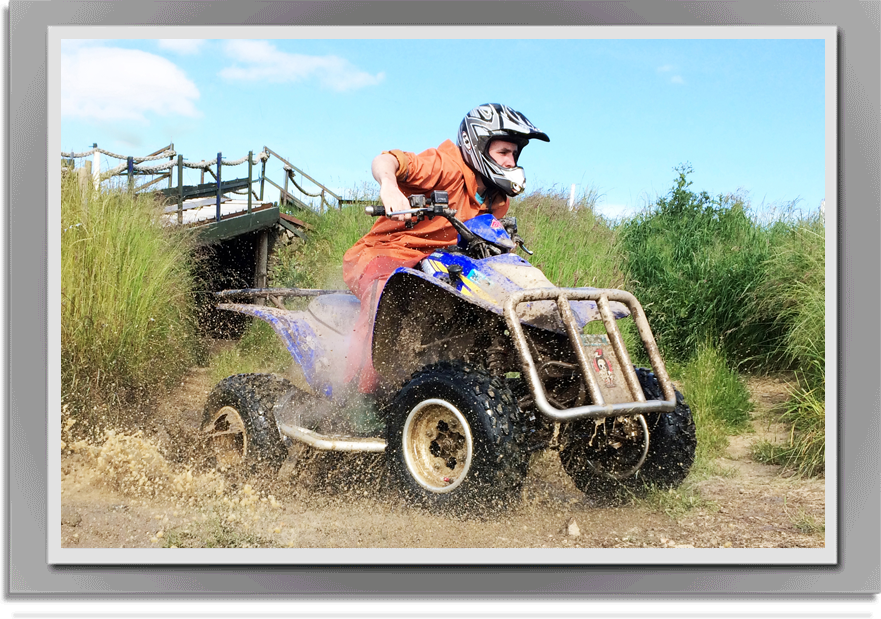 Quad-riding–stag